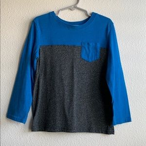 Boys blue and gray long sleeve tee